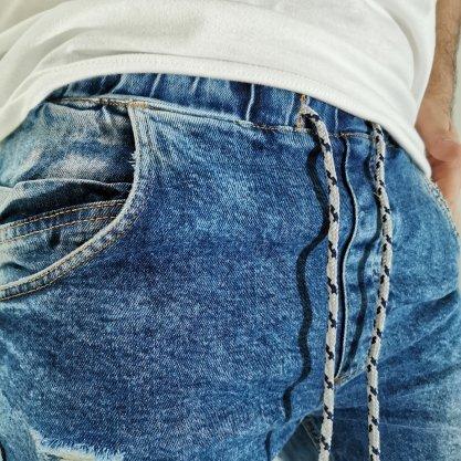 Bermuda Dixie Jogger Jeans Rasgada