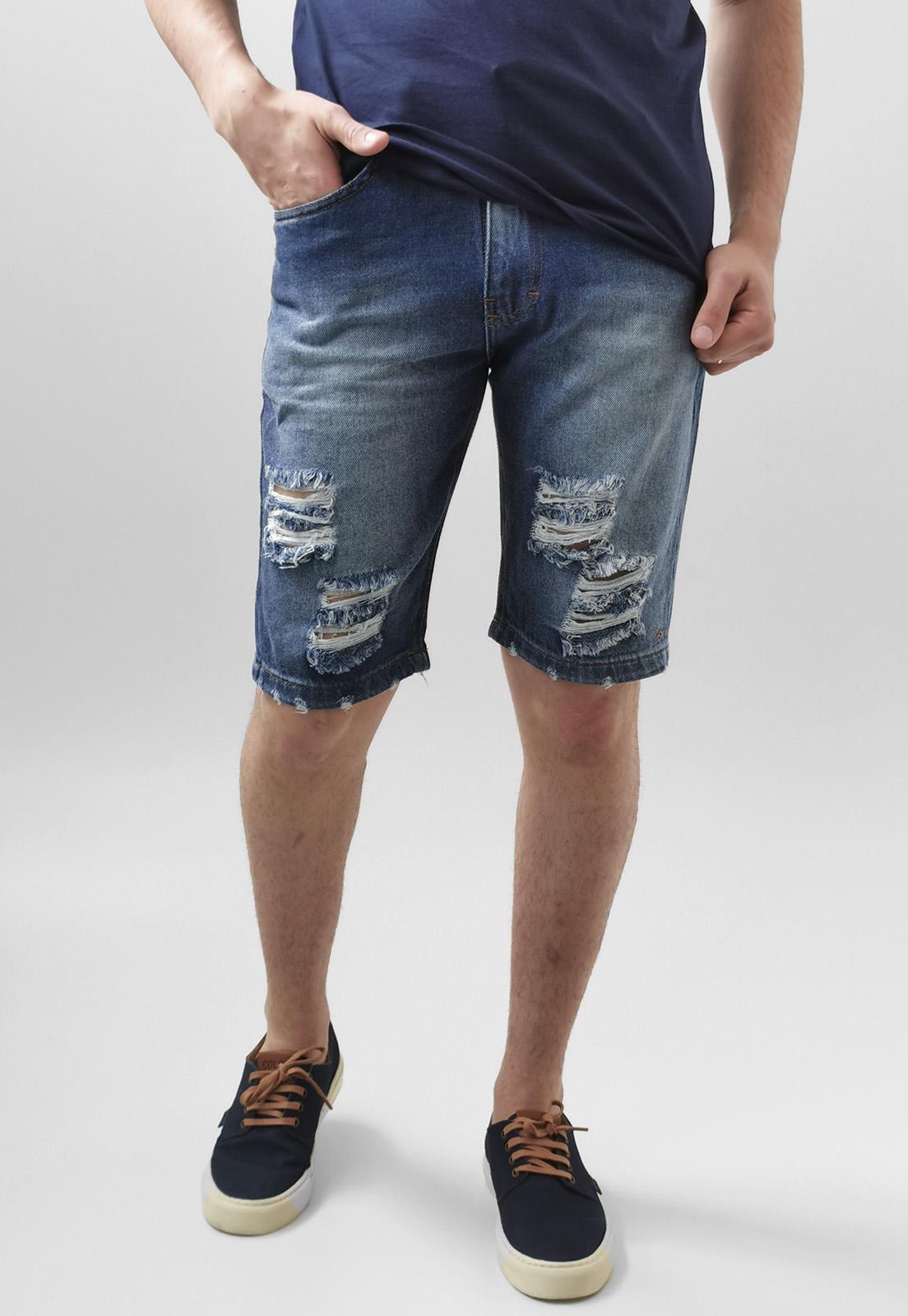 Bermuda Jeans Nicoboco Rasgada