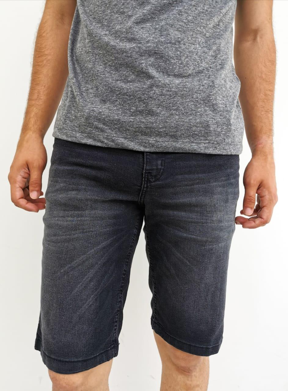 Bermuda Jeans Preto V12
