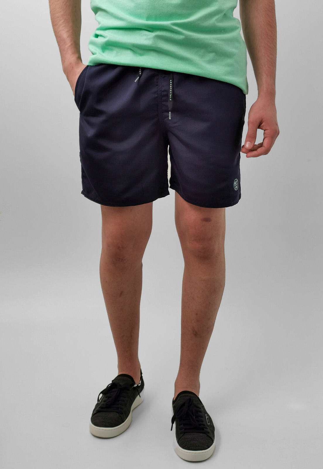 Bermuda Shorts Aéropostale Azul Marinho Básico