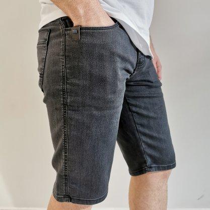 Bermuda Teezz Jeans Preta Lavada