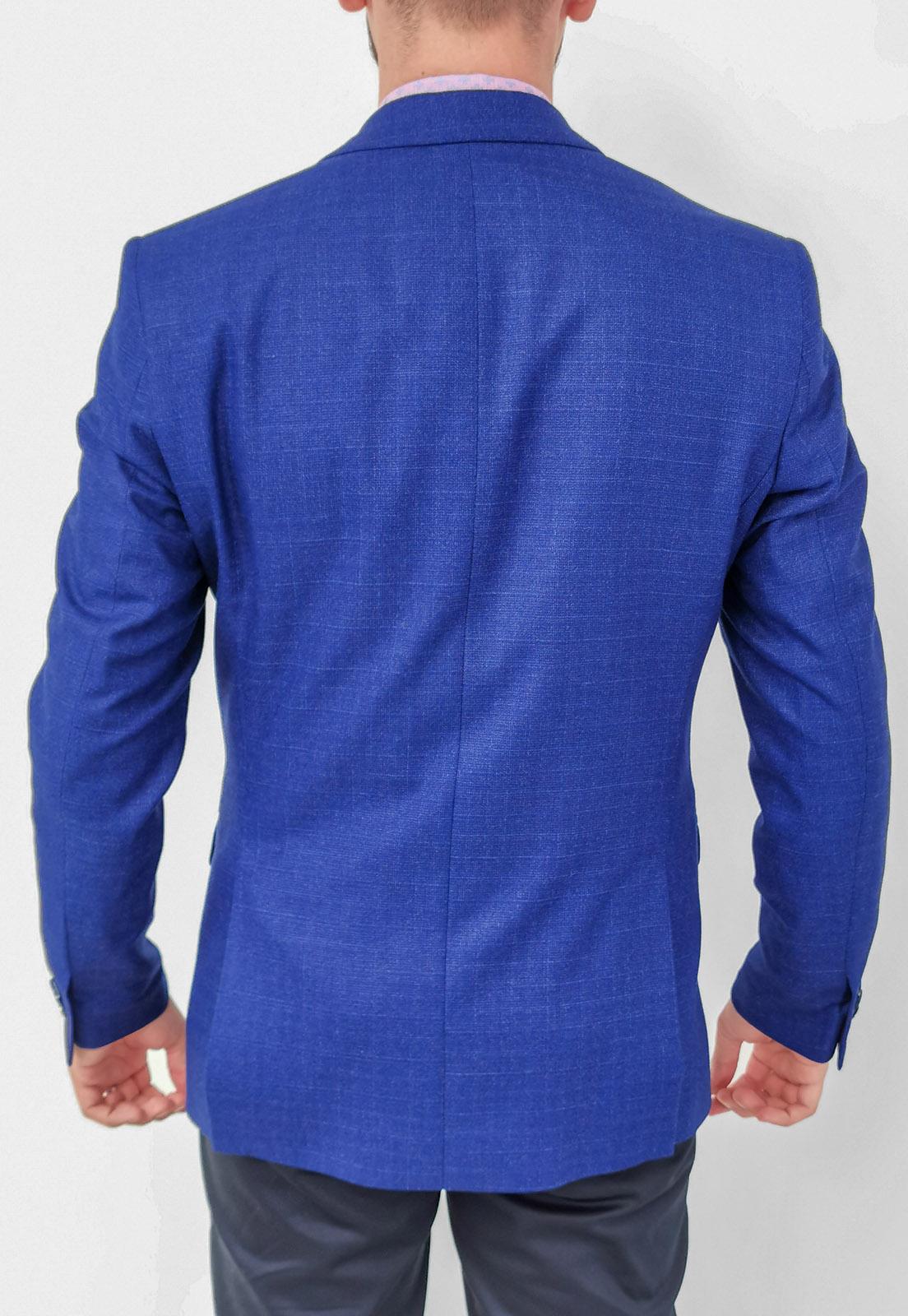 Blazer Raffer Slim Azul Xadrez