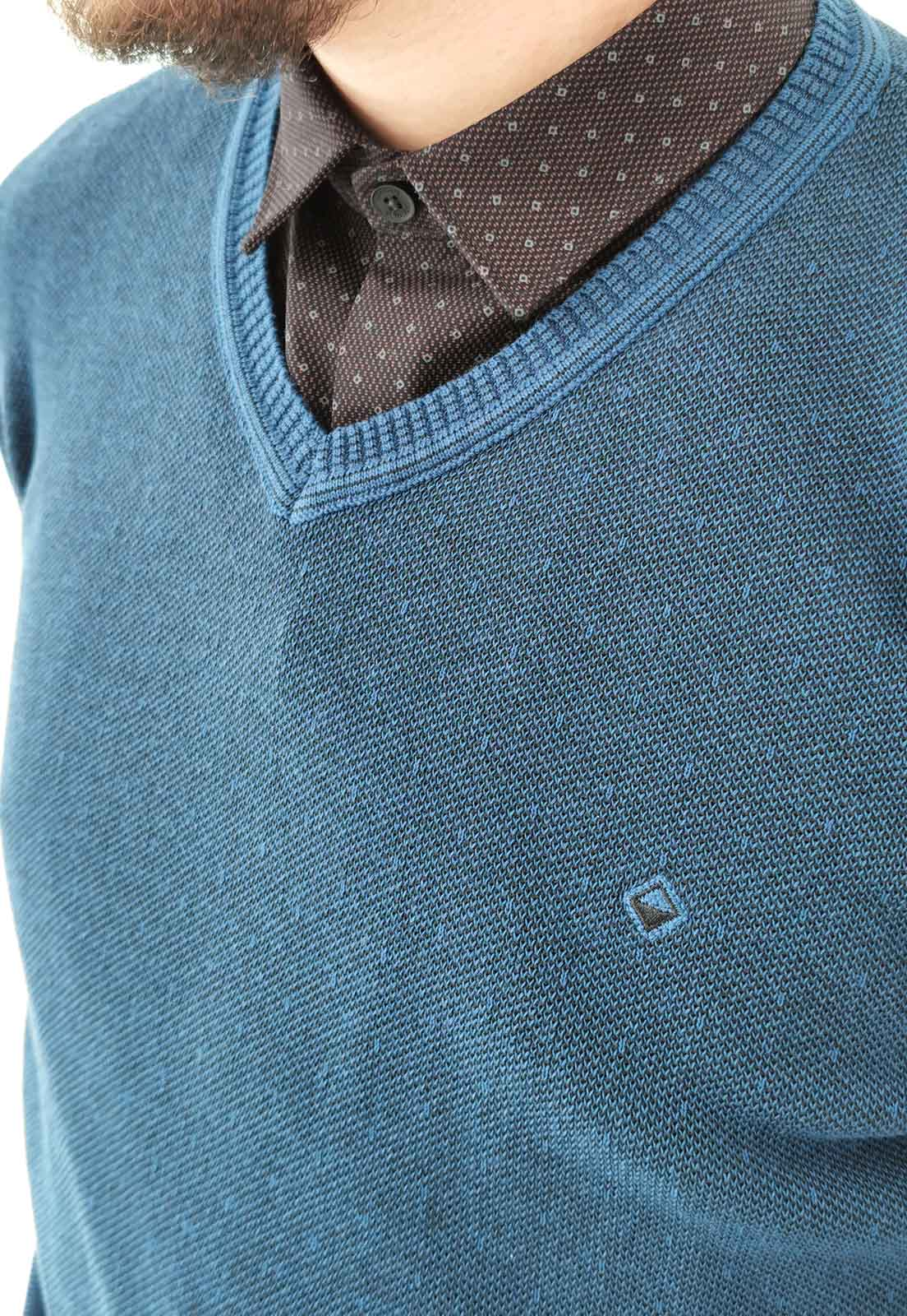 Blusa Vibrus Tricô Azul