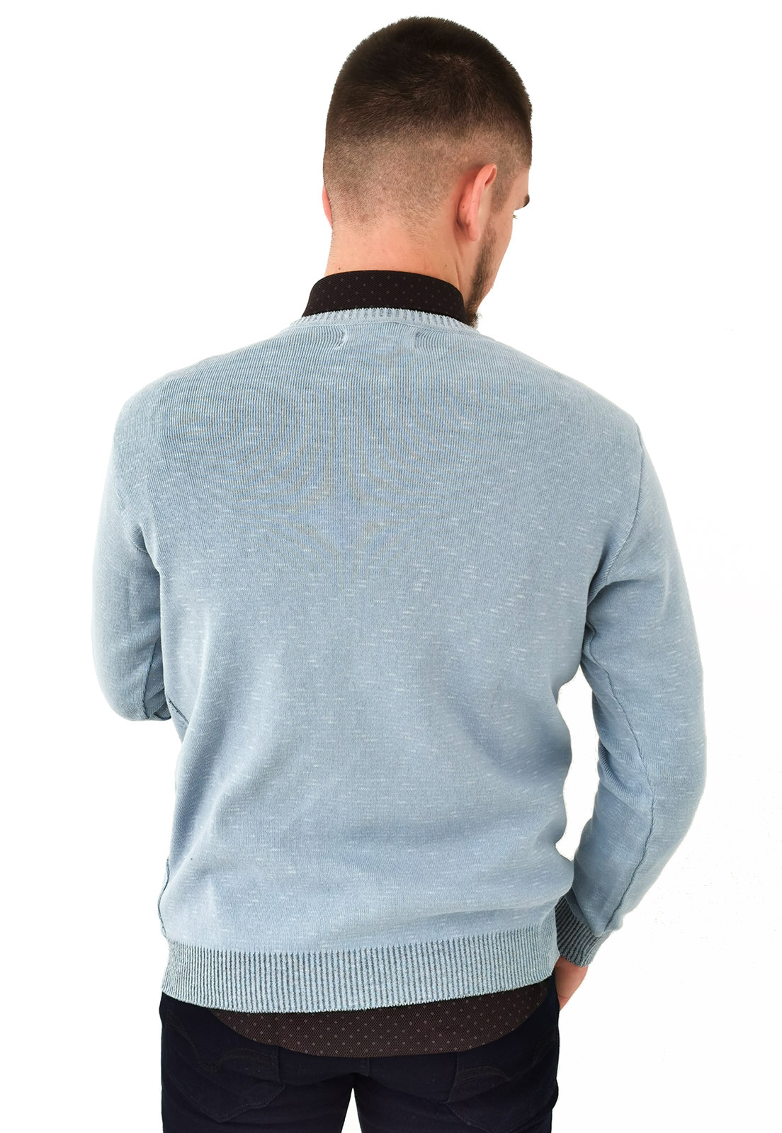 Blusa Vibrus Tricô Azul Claro