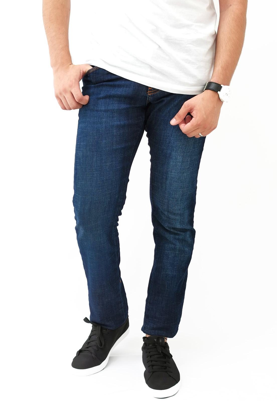 Calça Jeans Caution Azul Escuro