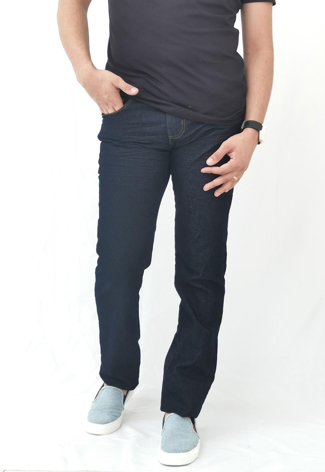 Calça Jeans Colcci Marinho Com Costura Marrom