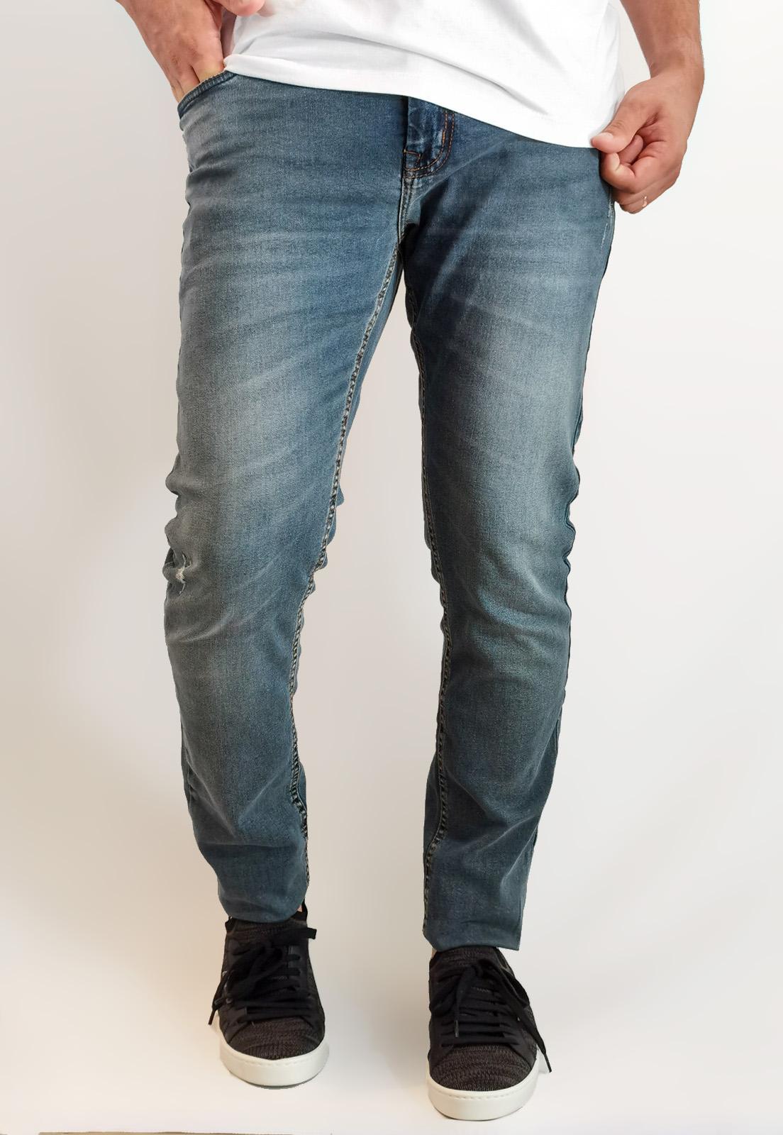Calça Jeans King&Joe Super Skinny Azul Lavado