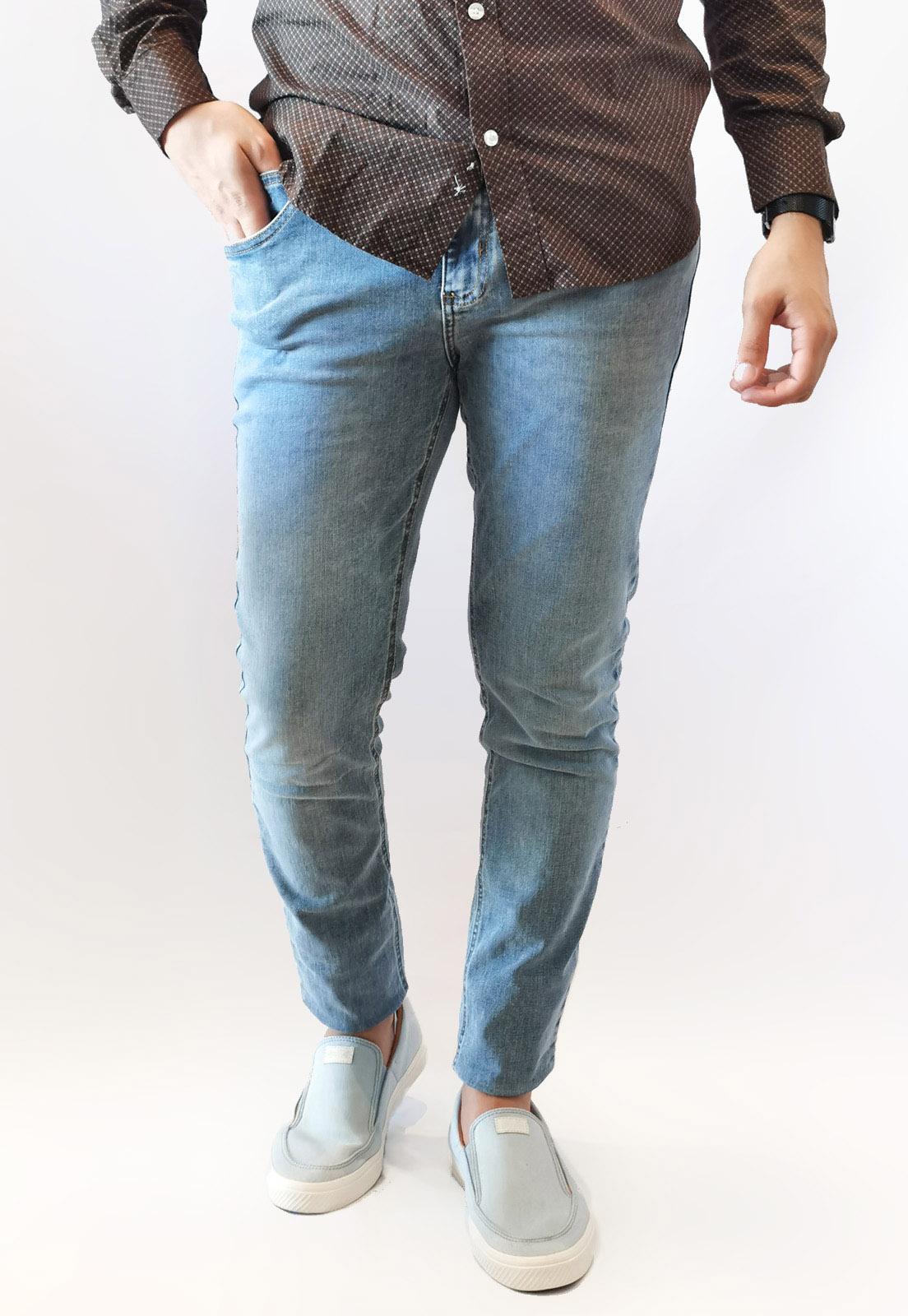 Calça Jeans Lee Slim Azul Claro