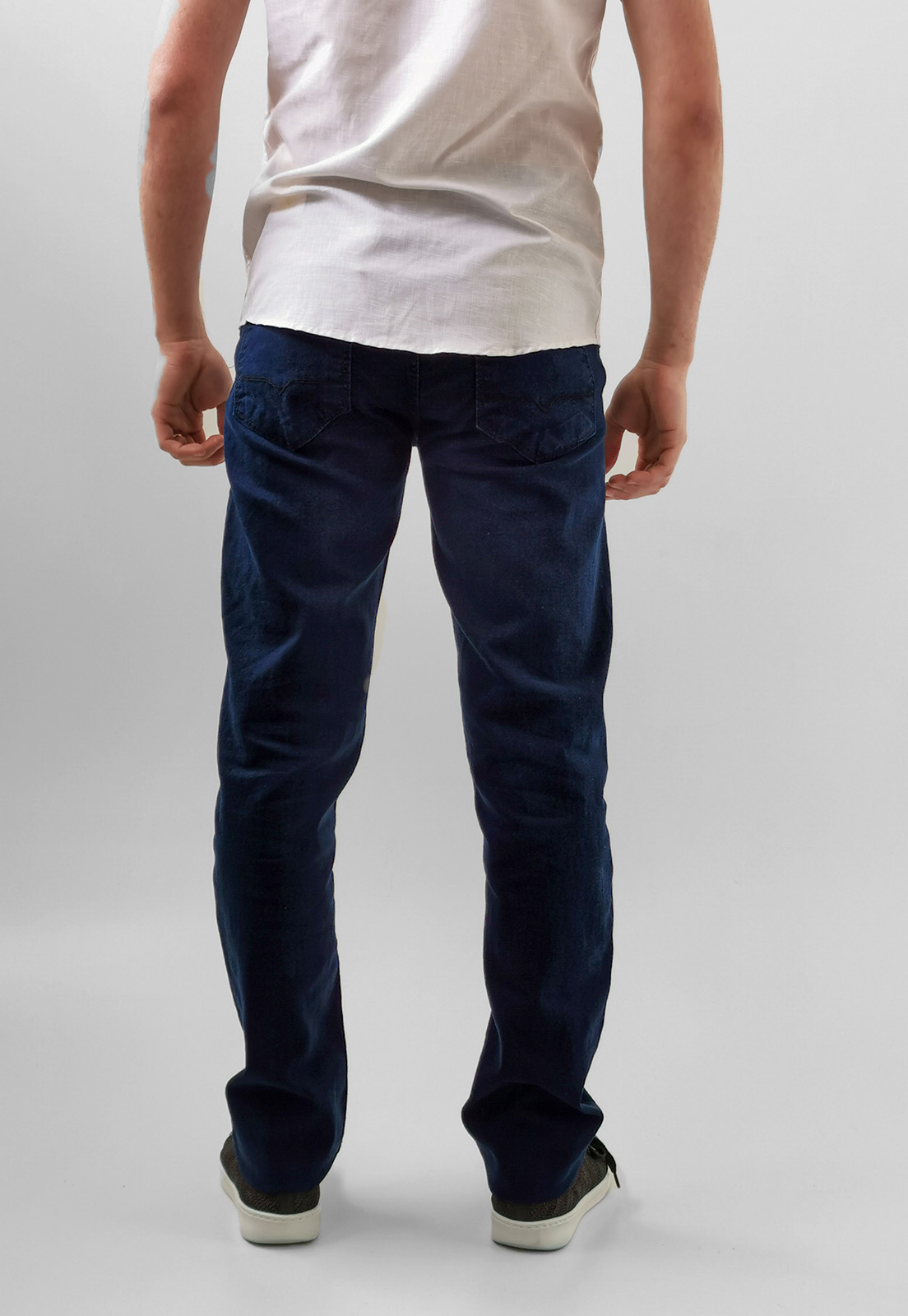 Calça Jeans Max Blue Reta Azul Escuro