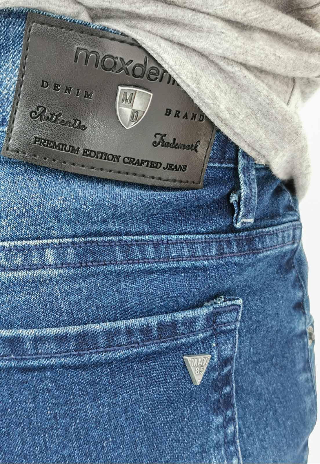 Calça Jeans Max Blue Slim Azul Medio