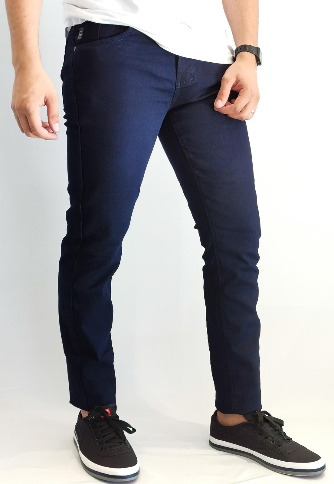 Calça Jeans Max Blue Slim Marinho