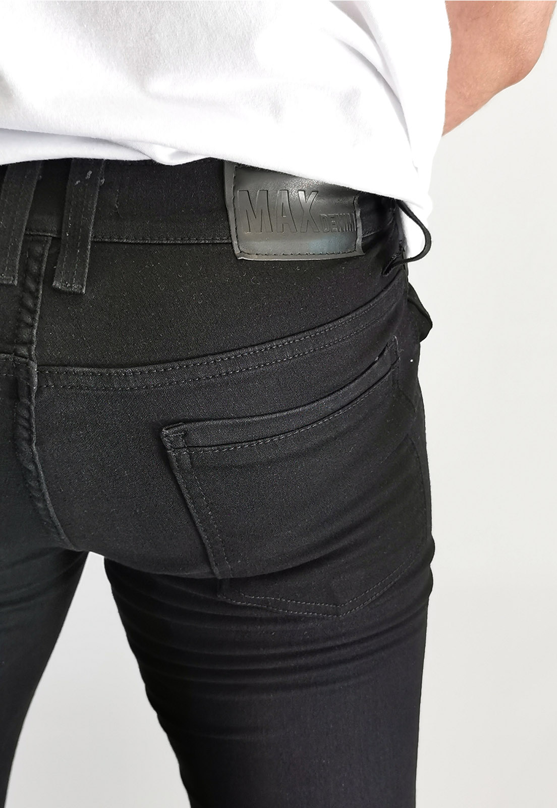 Calça Jeans Max Blue Slim Preto