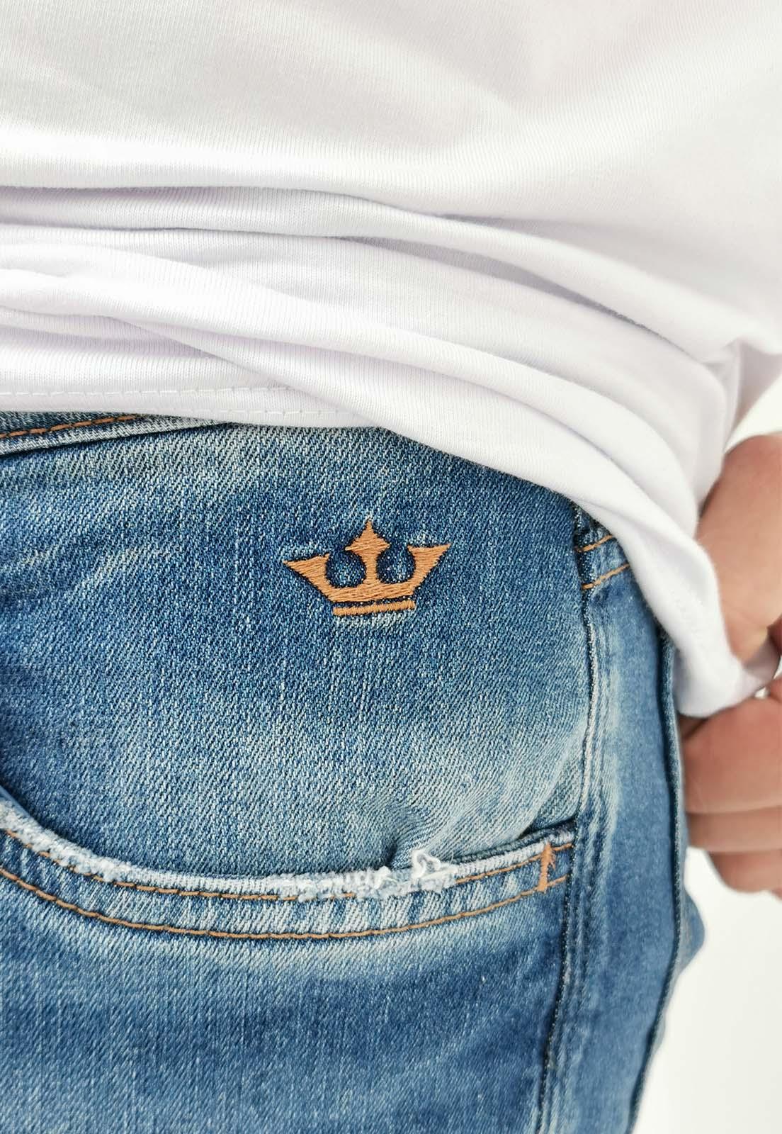 Calça Jeans Skinny Docthos Cropped Azul