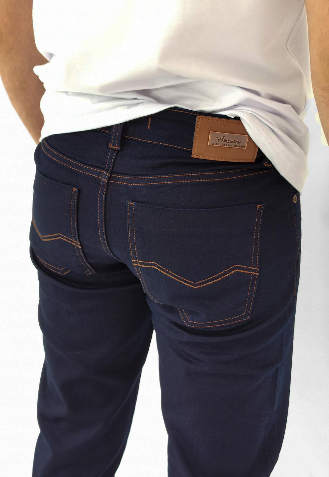 Calça Jeans Whisky Azul Marinho Confort