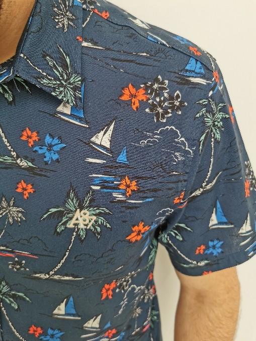 Camisa Aéropostale Azul Marinho Floral