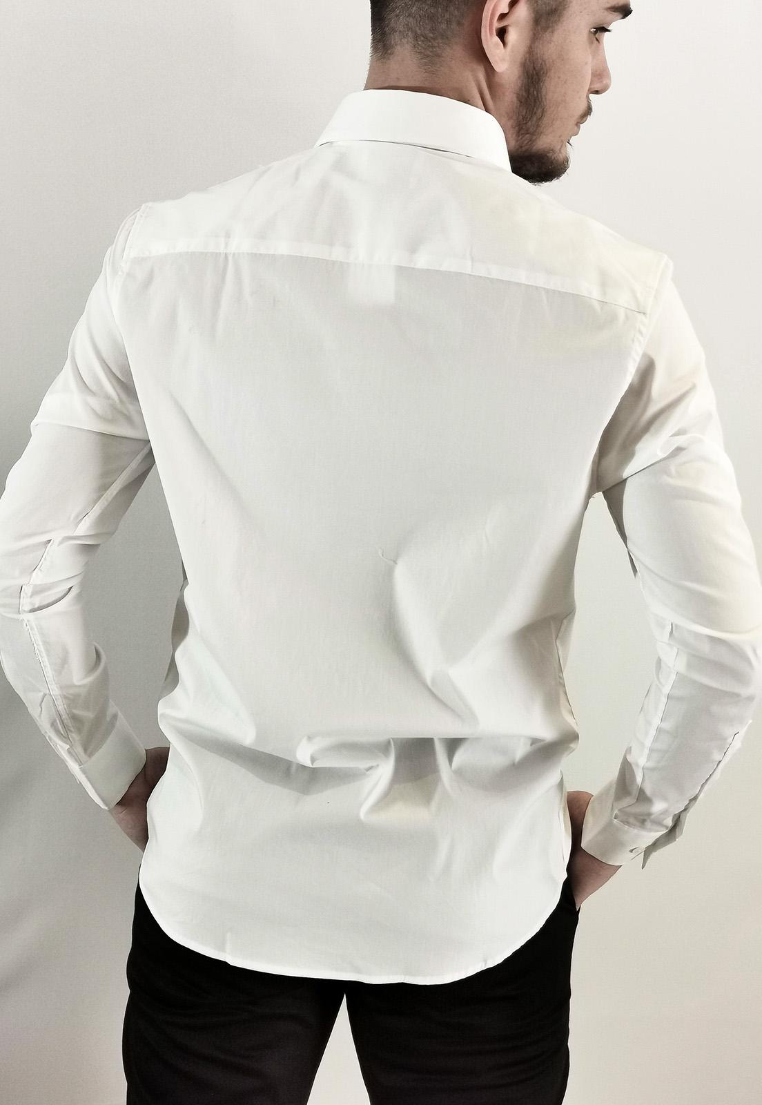 Camisa Calvin Klein Slim Com Elastano Branca