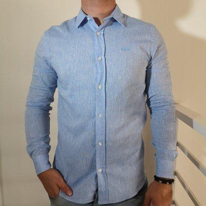 Camisa Colcci Linho Classic Azul Clara
