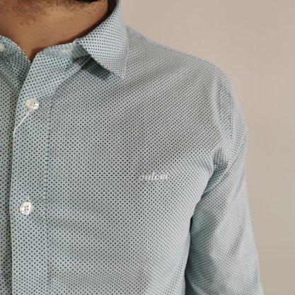 Camisa Colcci Slim Verde Clara com Detalhes