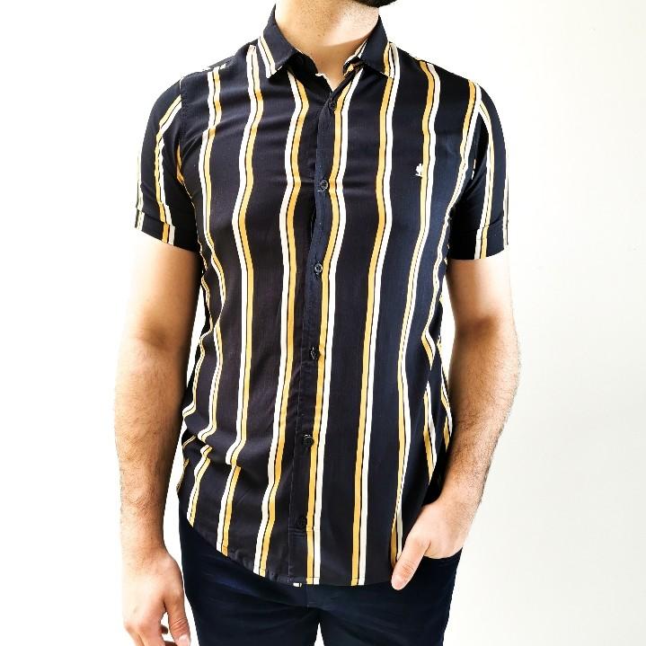 Camisa Desert Manga Curta Preta Listrada