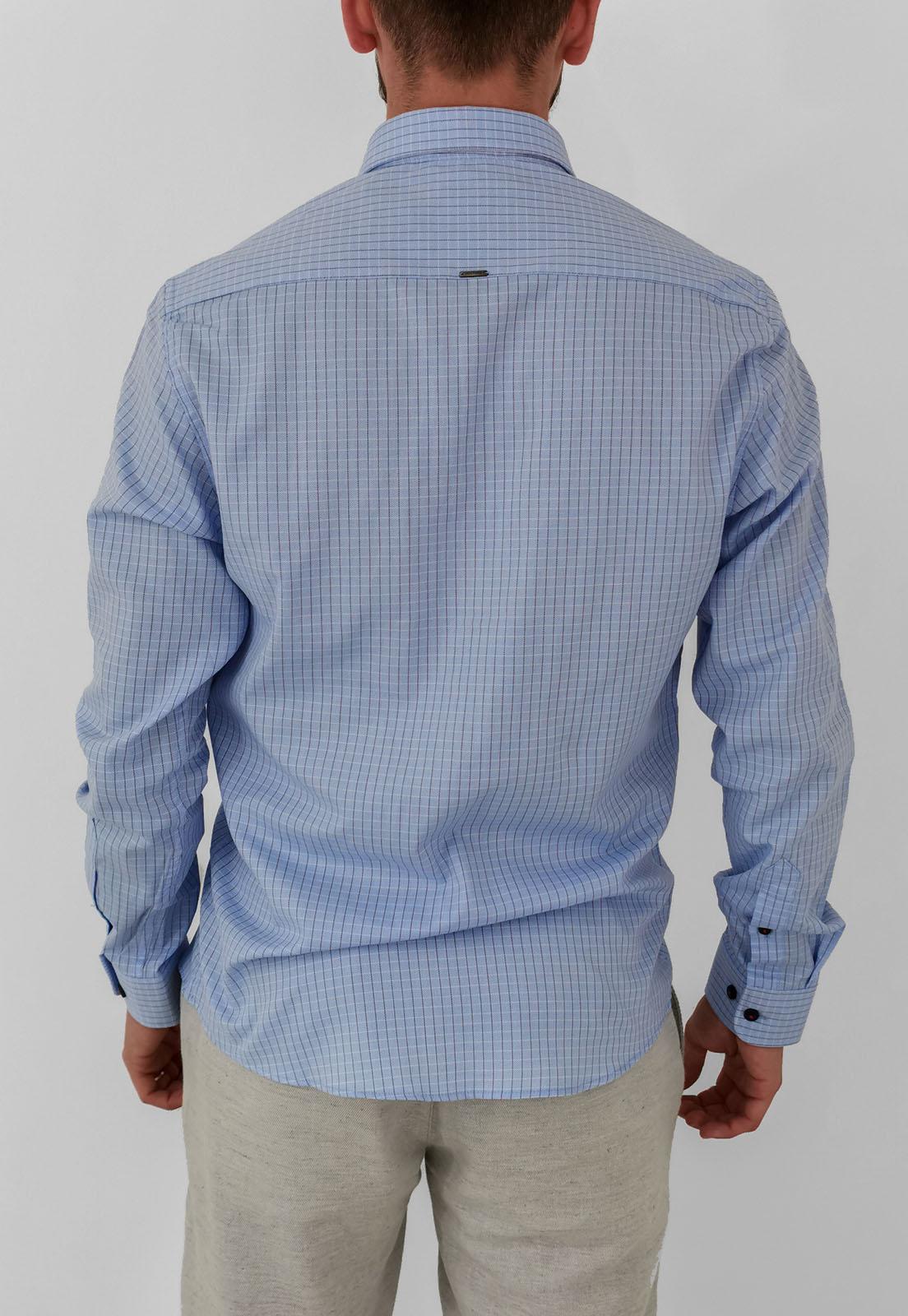 Camisa Docthos Slim Xadrez Azul