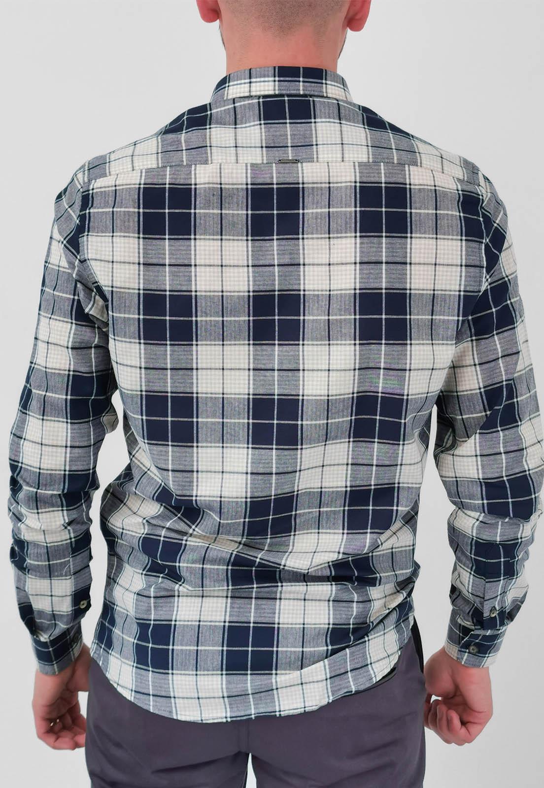 Camisa Docthos Slim Xadrez Azul Marinho