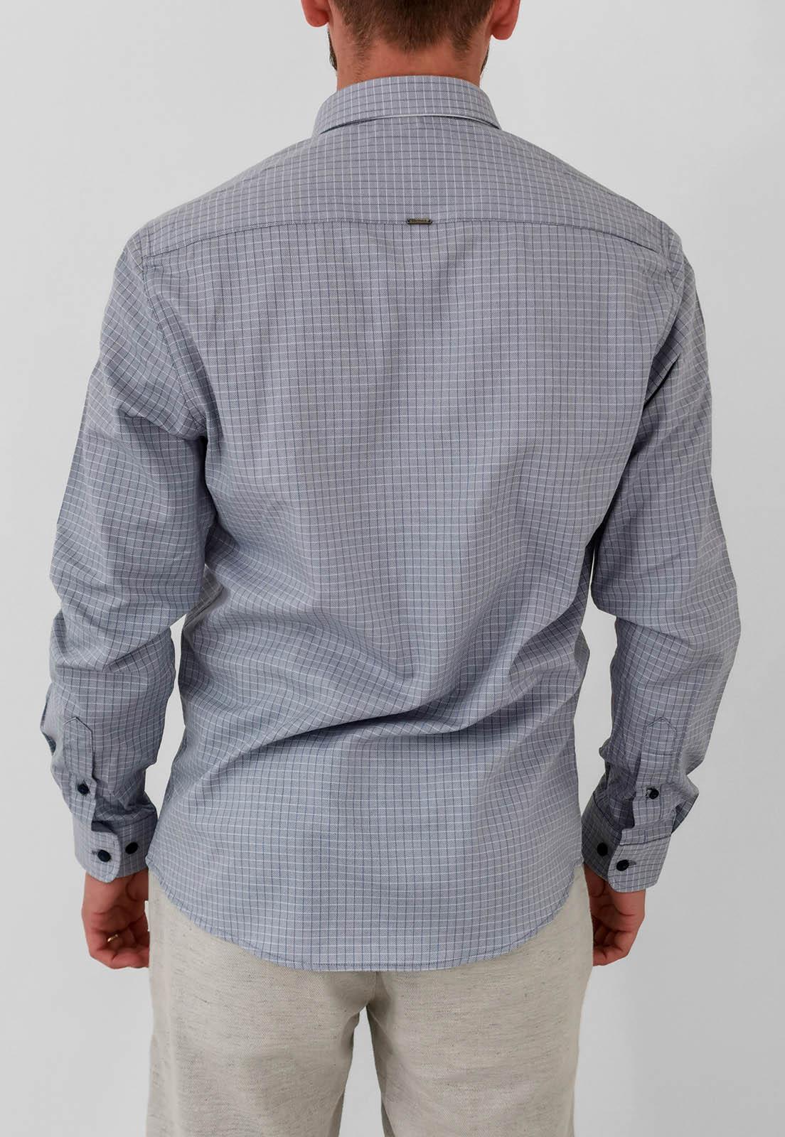 Camisa Docthos Slim Xadrez Cinza