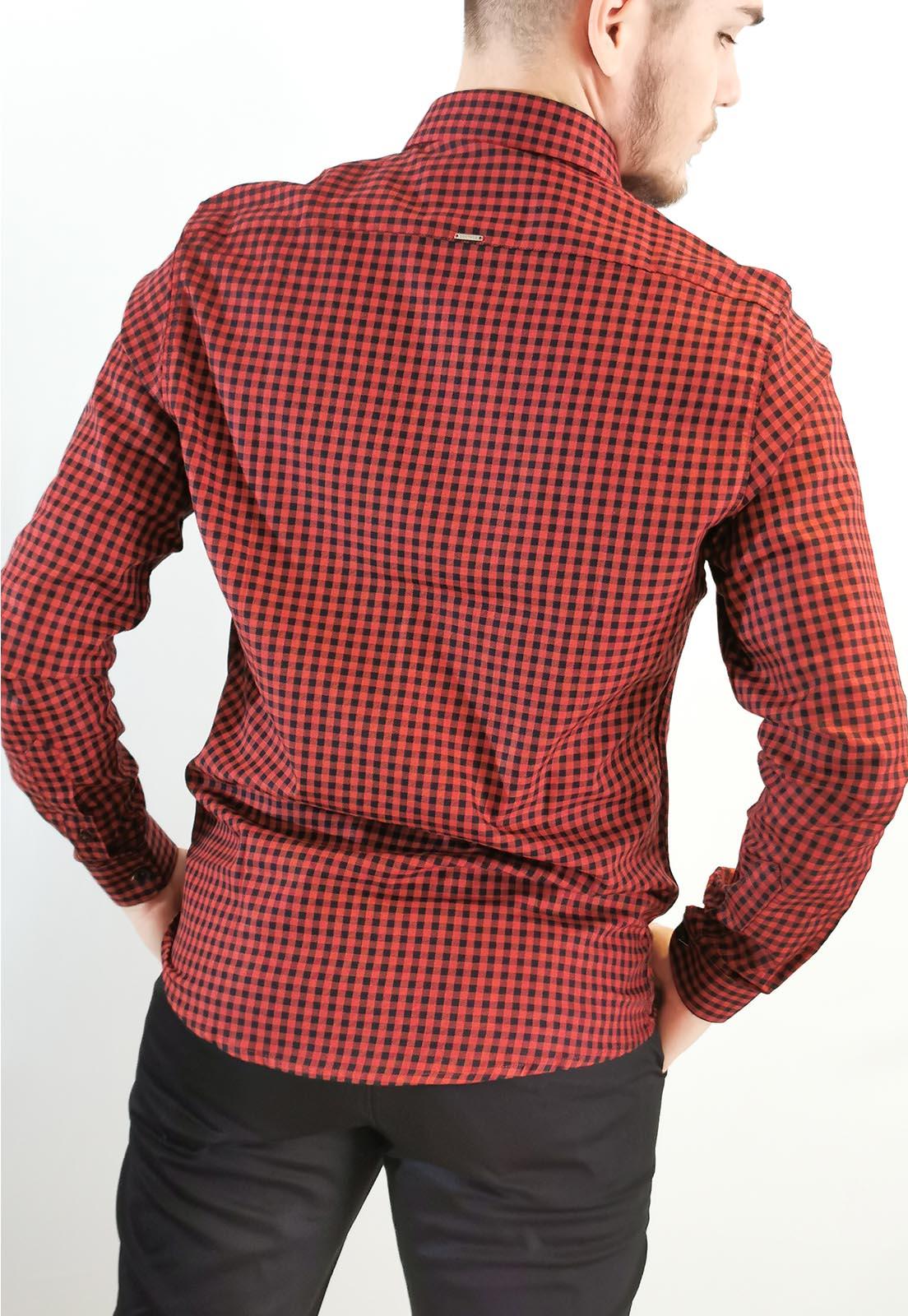 Camisa Docthos Slim Xadrez Vermelho