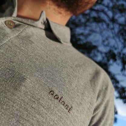 Camisa Gola Polo Colcci Cinza Lisa