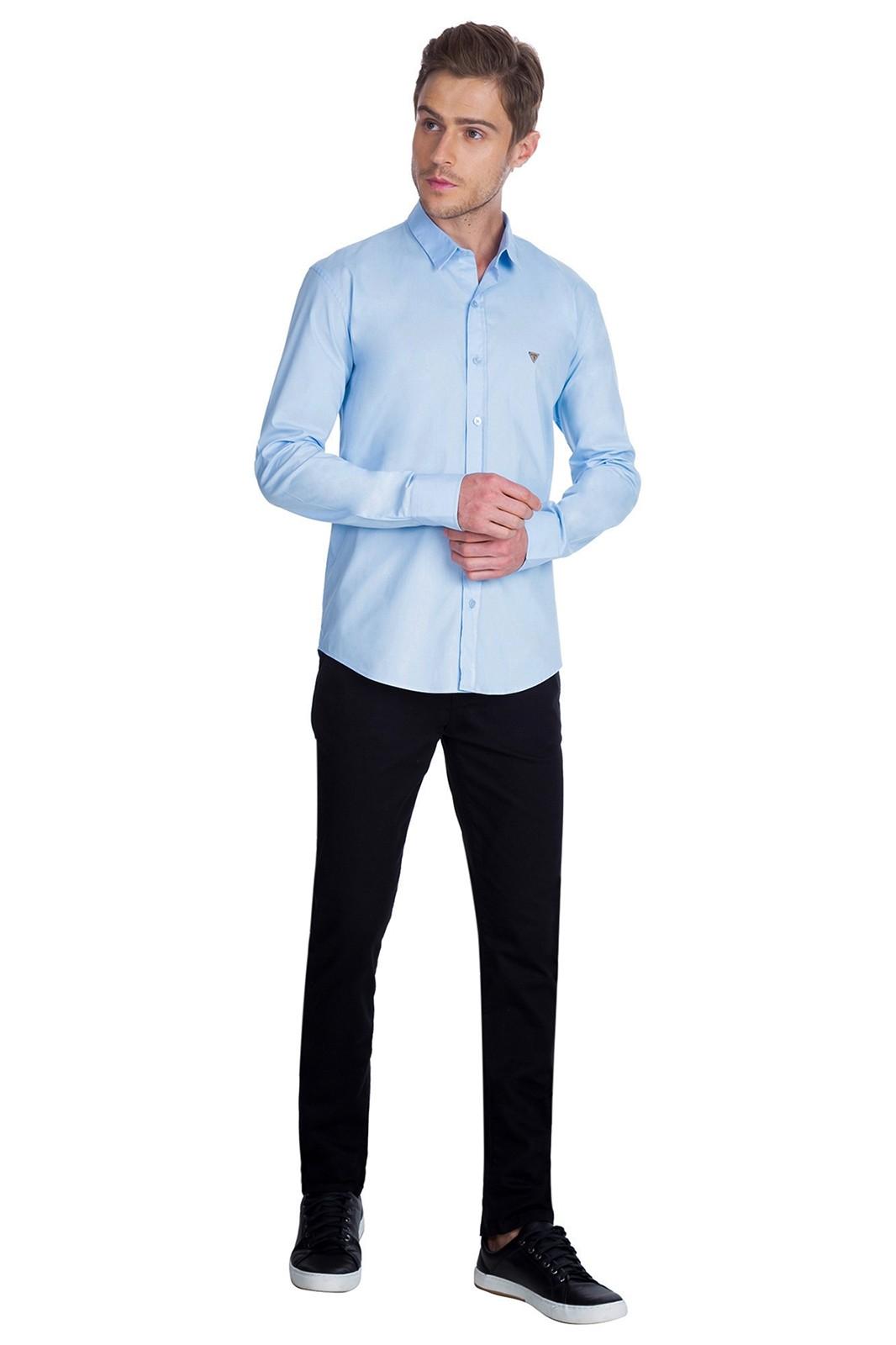 Camisa Guess Slim Azul