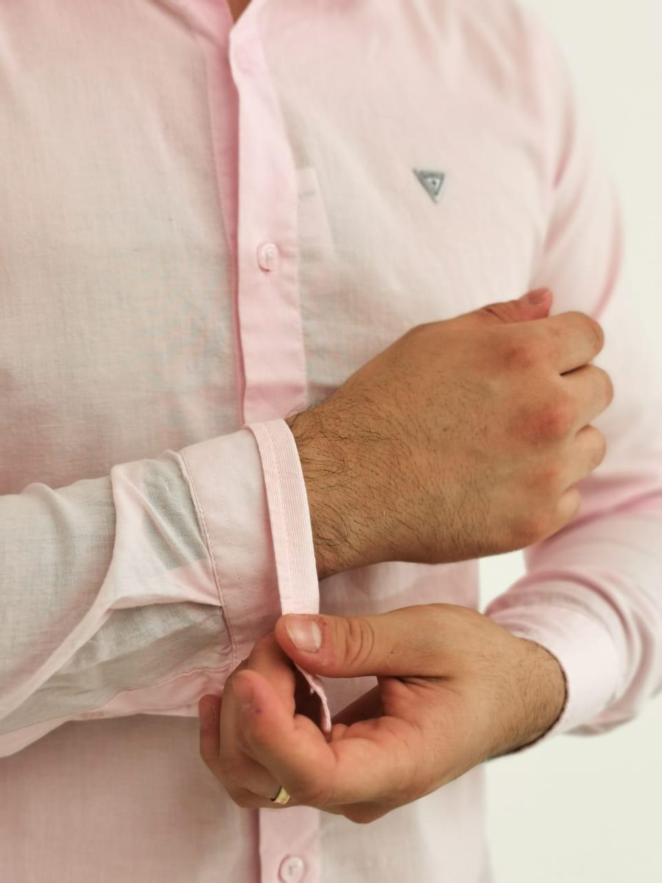 Camisa Guess Slim Rosa