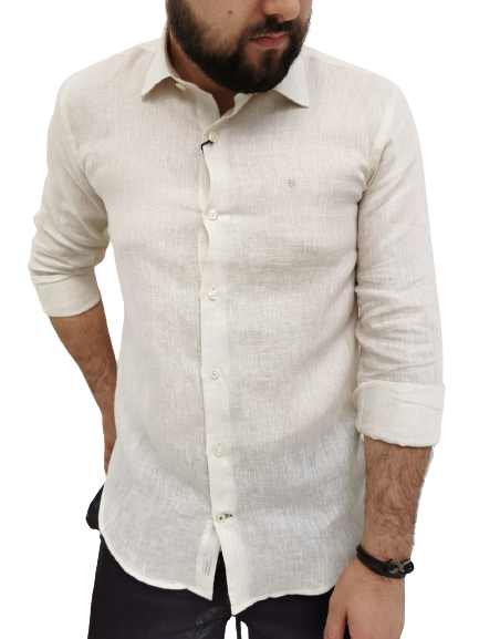 Camisa Highstil Puro Linho Bege