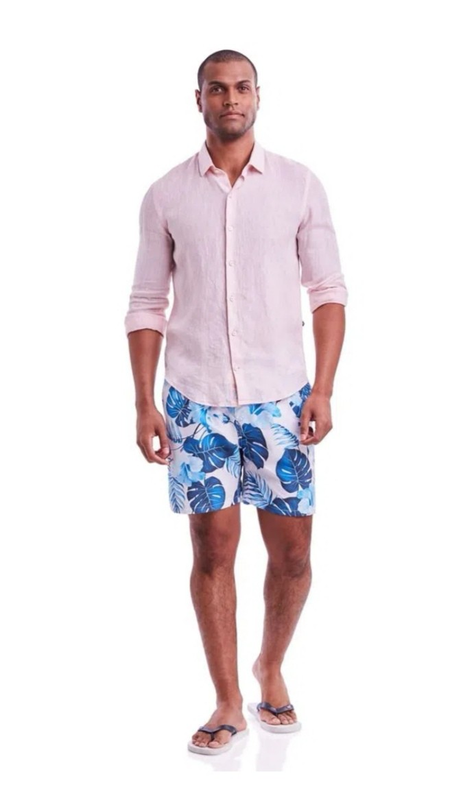 Camisa Highstil Puro Linho Rosa