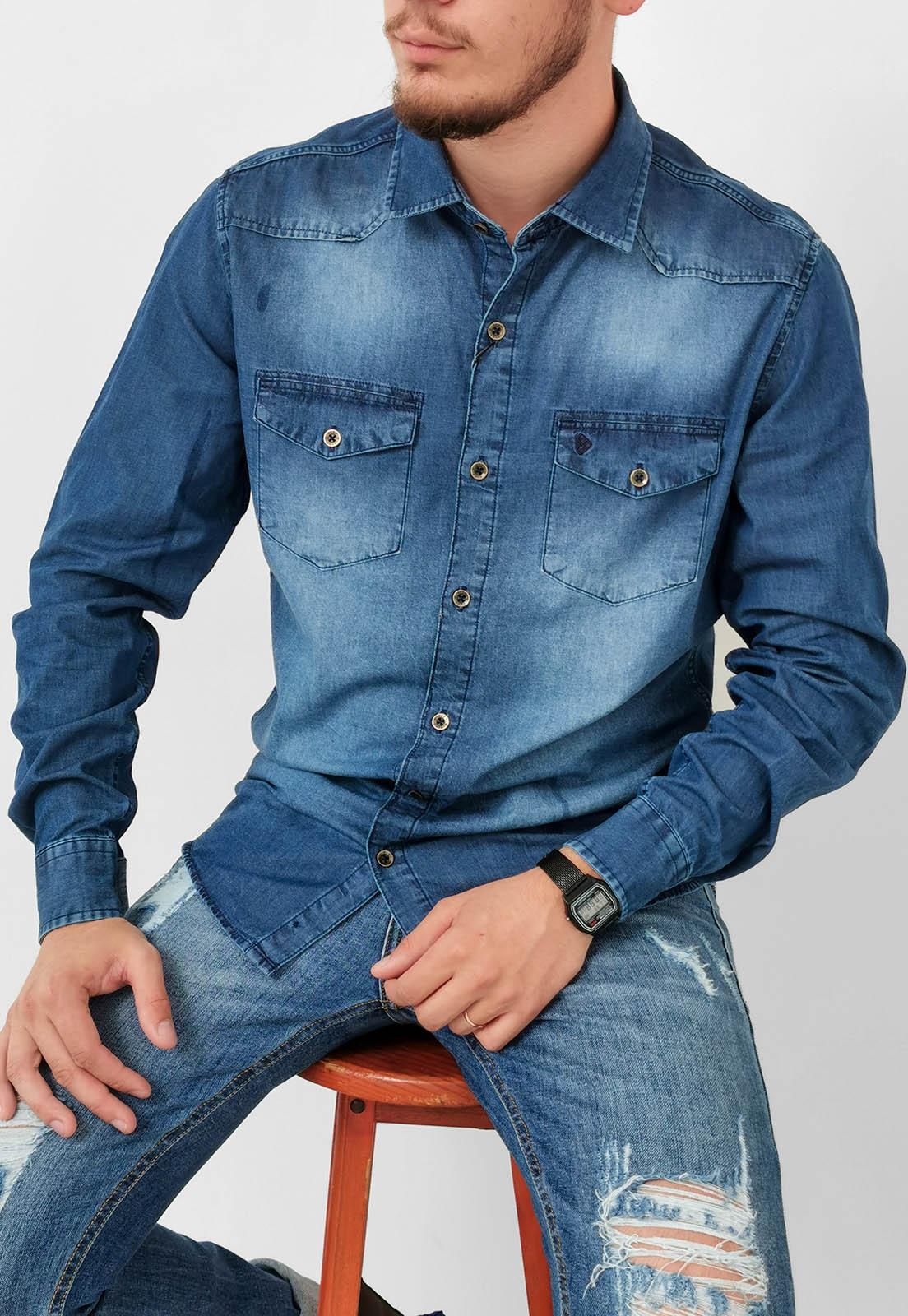 Camisa Jeans Pitt Slim