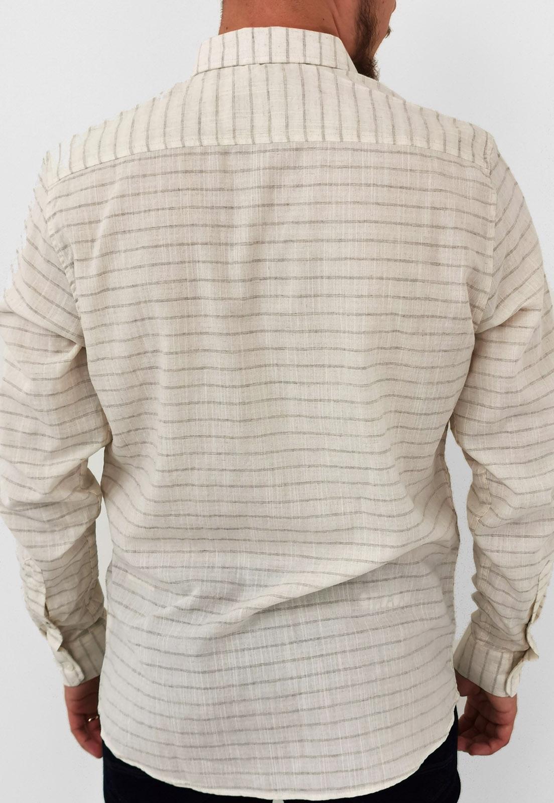 Camisa King & Joe Listrado Natural