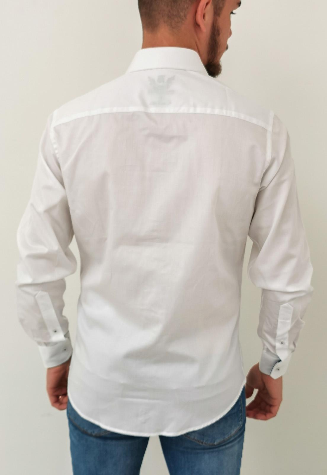 Camisa Manga Longa Baumgarten Branco Algodão Pima
