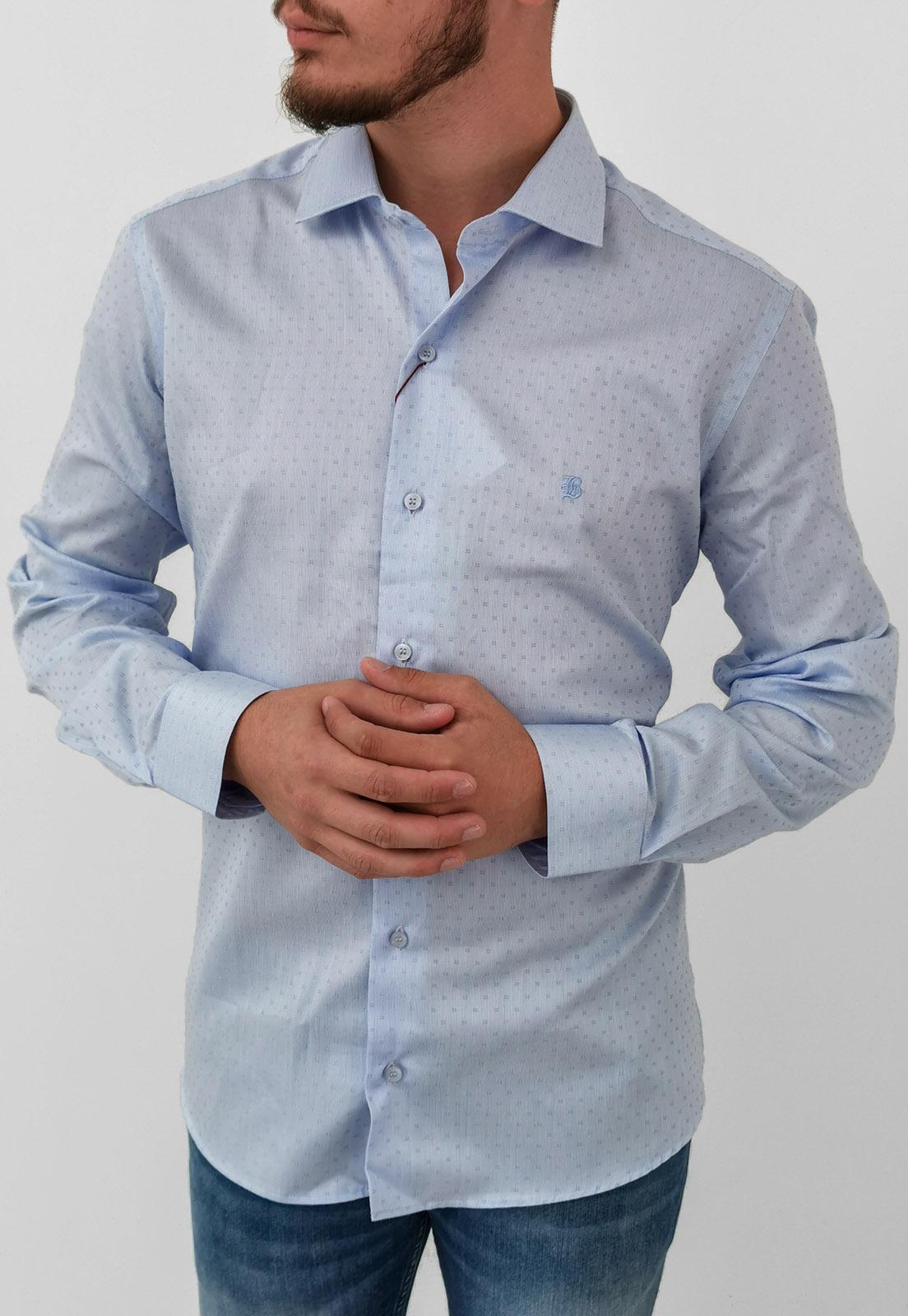Camisa Manga Longa Slim Baumgarten Azul Claro