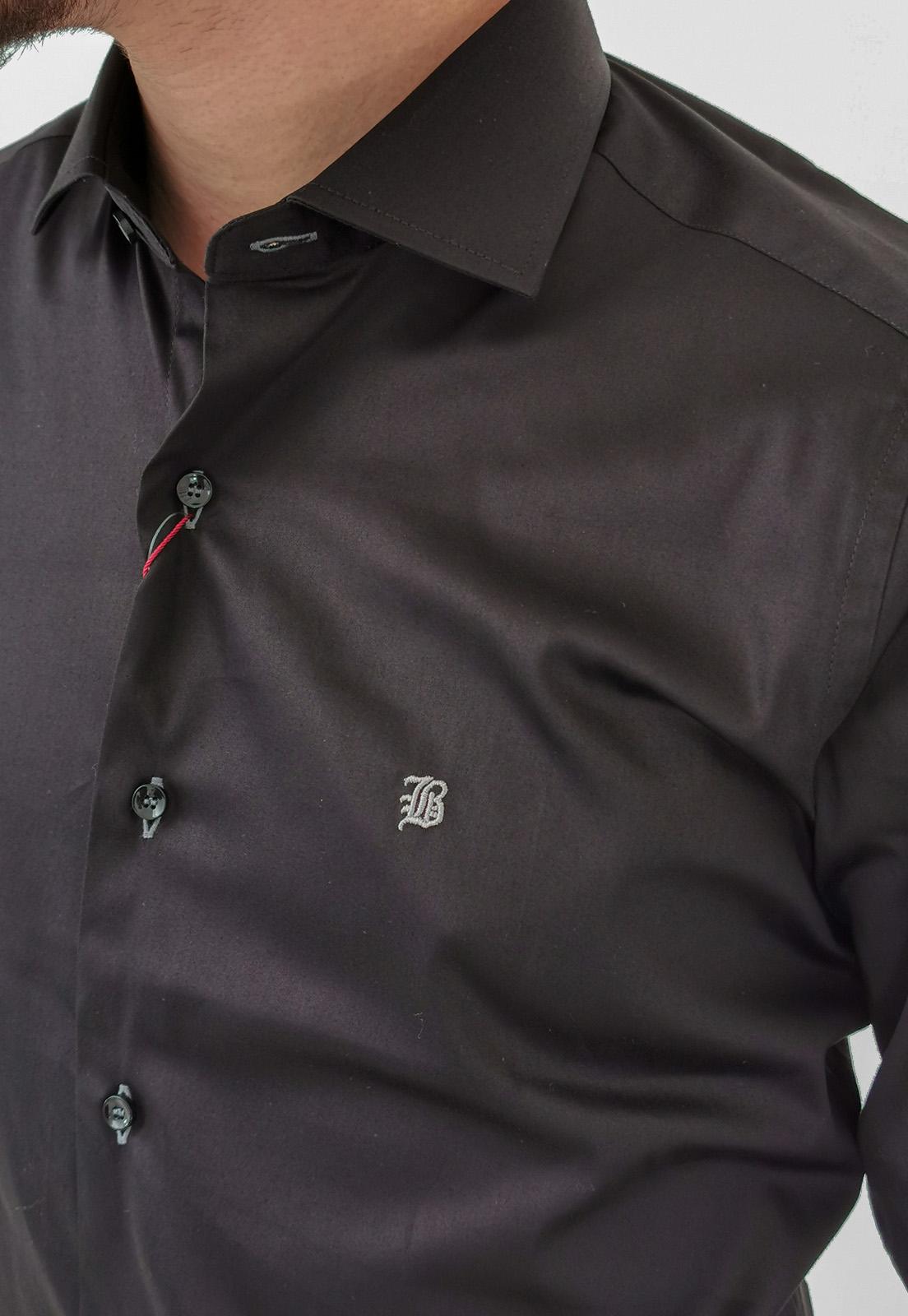 Camisa Manga Longa Slim Baumgarten Preto