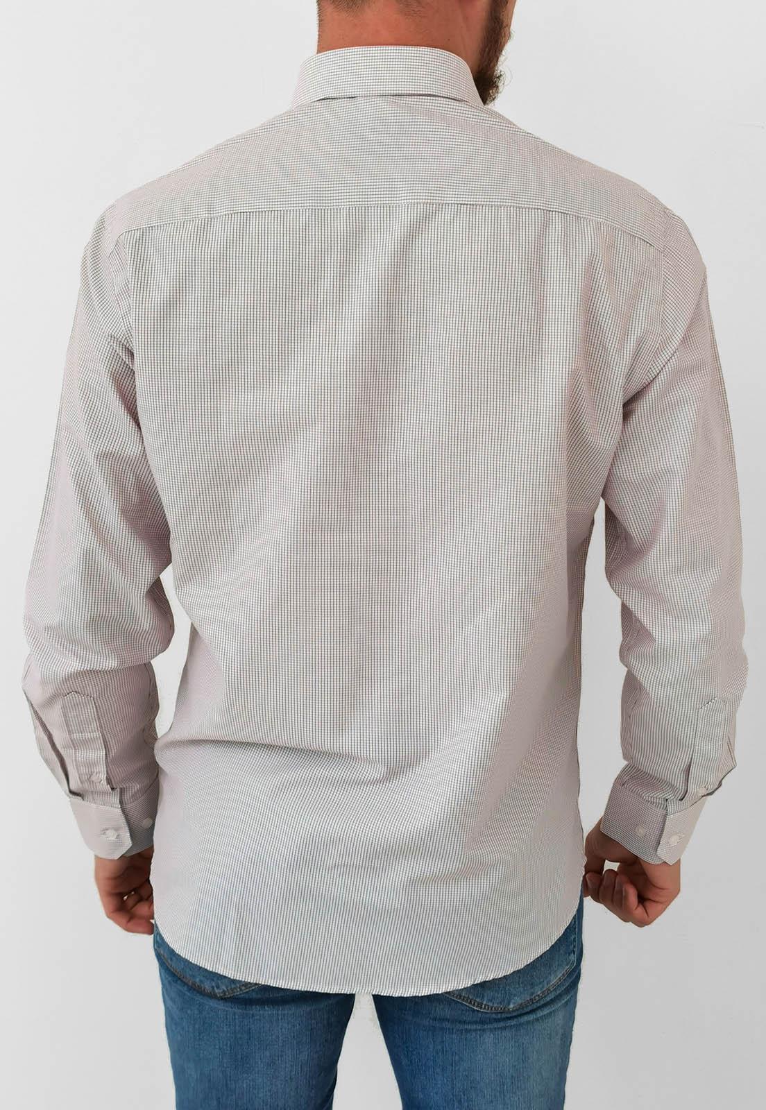 Camisa Manga Longa Slim Baumgarten Xadrez Vinho