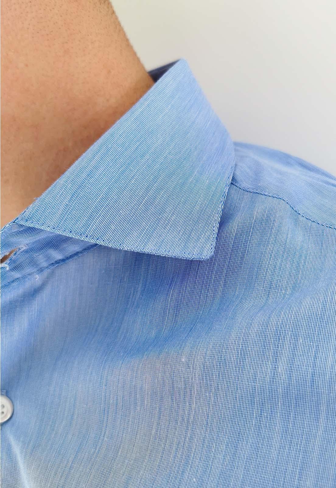 Camisa Navaratti Manga Longa Slim Azul
