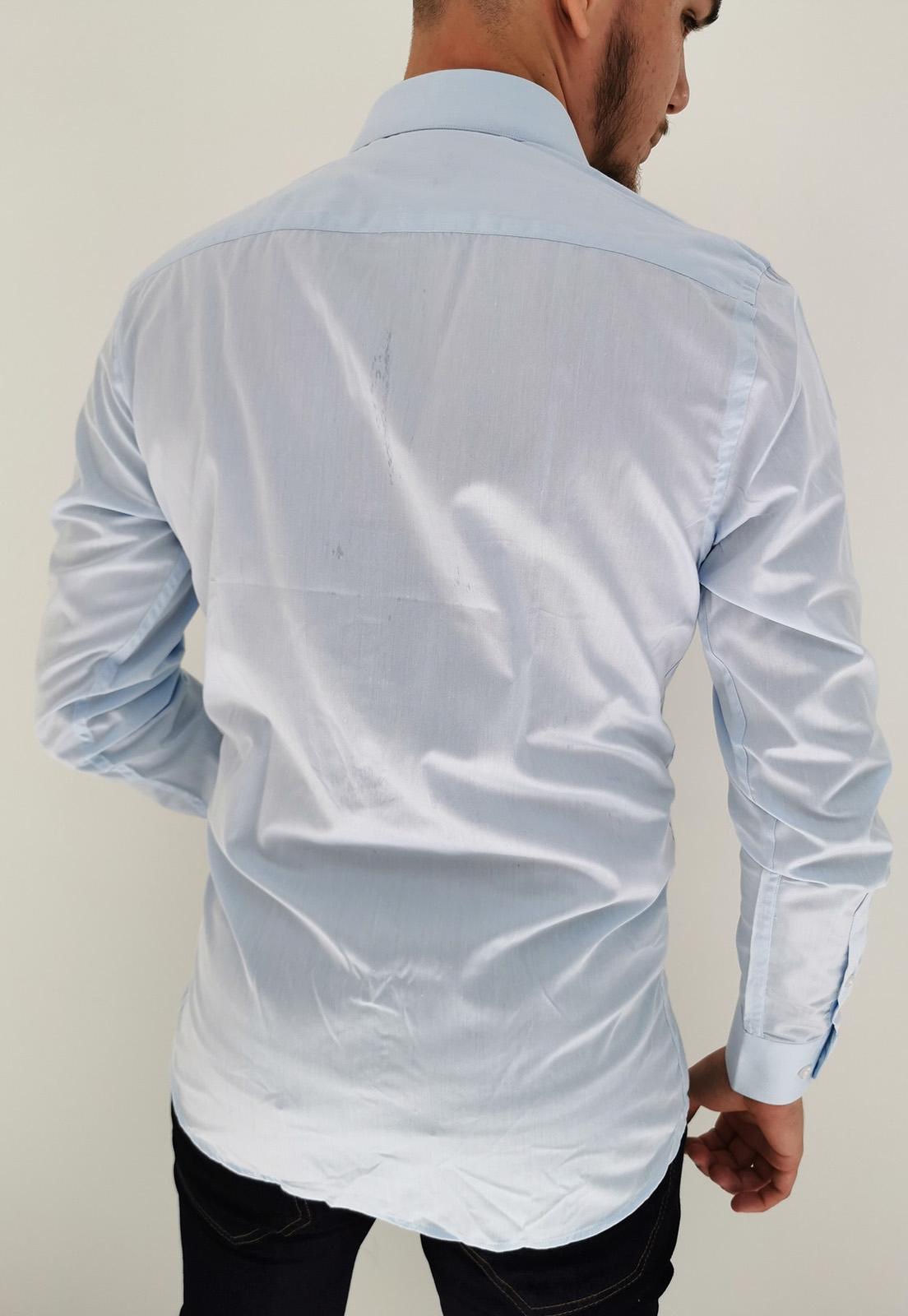 Camisa Navaratti Manga Longa Slim Azul Claro