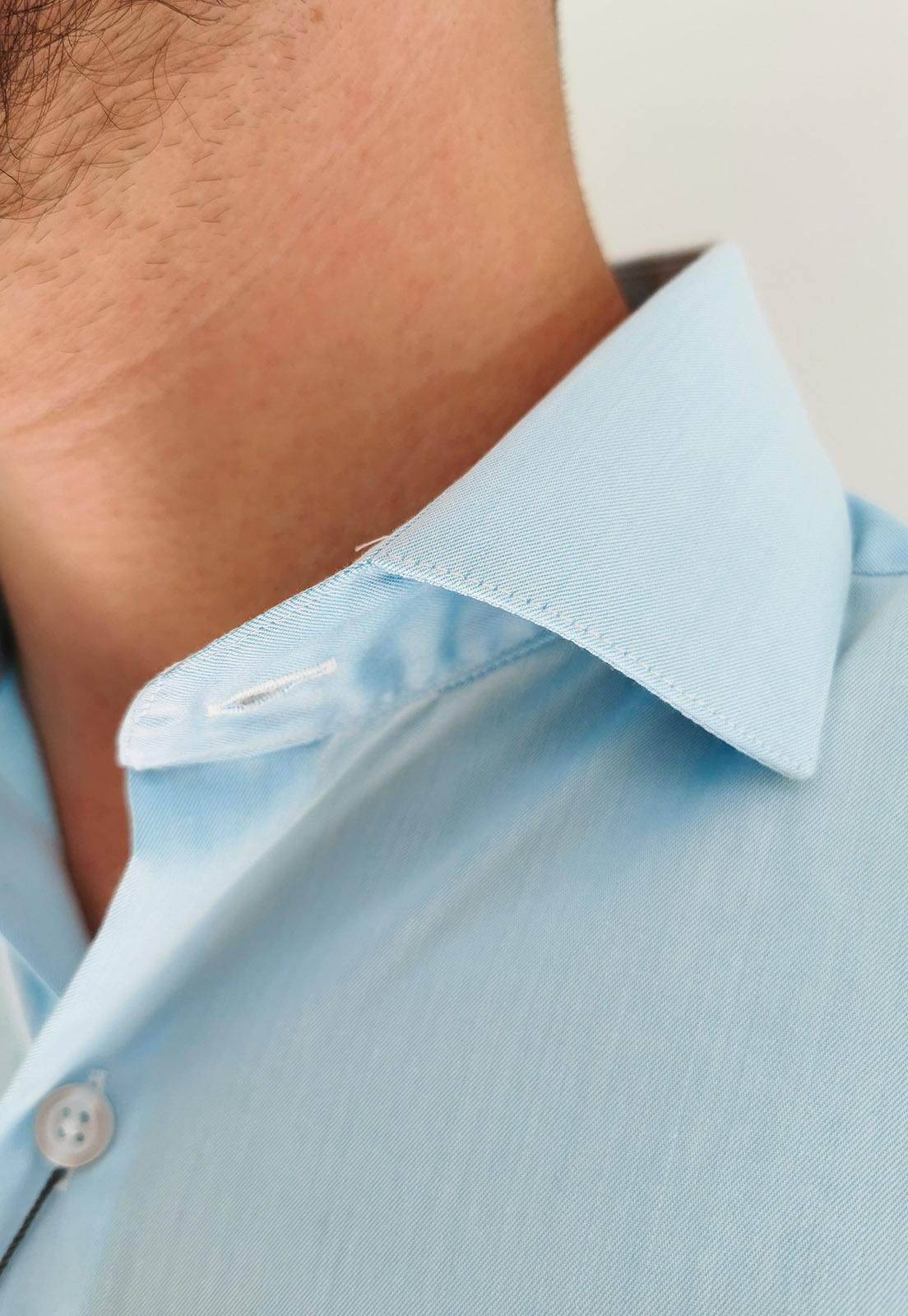 Camisa Navaratti Manga Longa Slim Azul Piscina