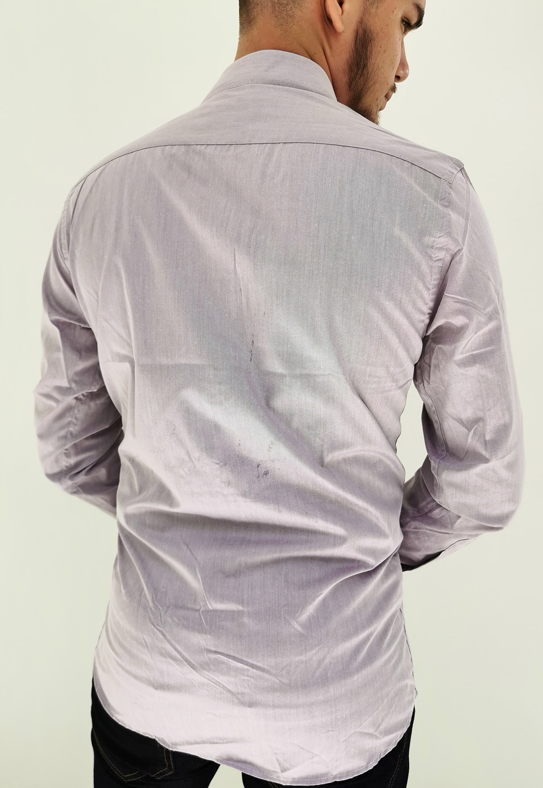Camisa Navaratti Manga Longa Slim Lilás