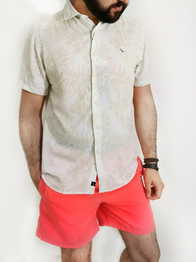 Camisa Oracon Off White Flor