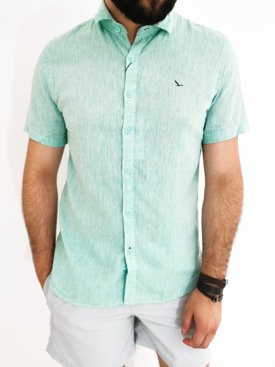 Camisa Oracon Verde Linho