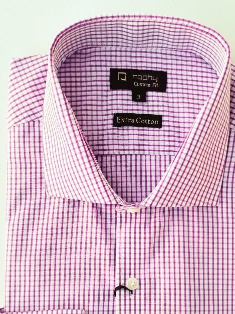 Camisa Raphy Rosa Xadrez
