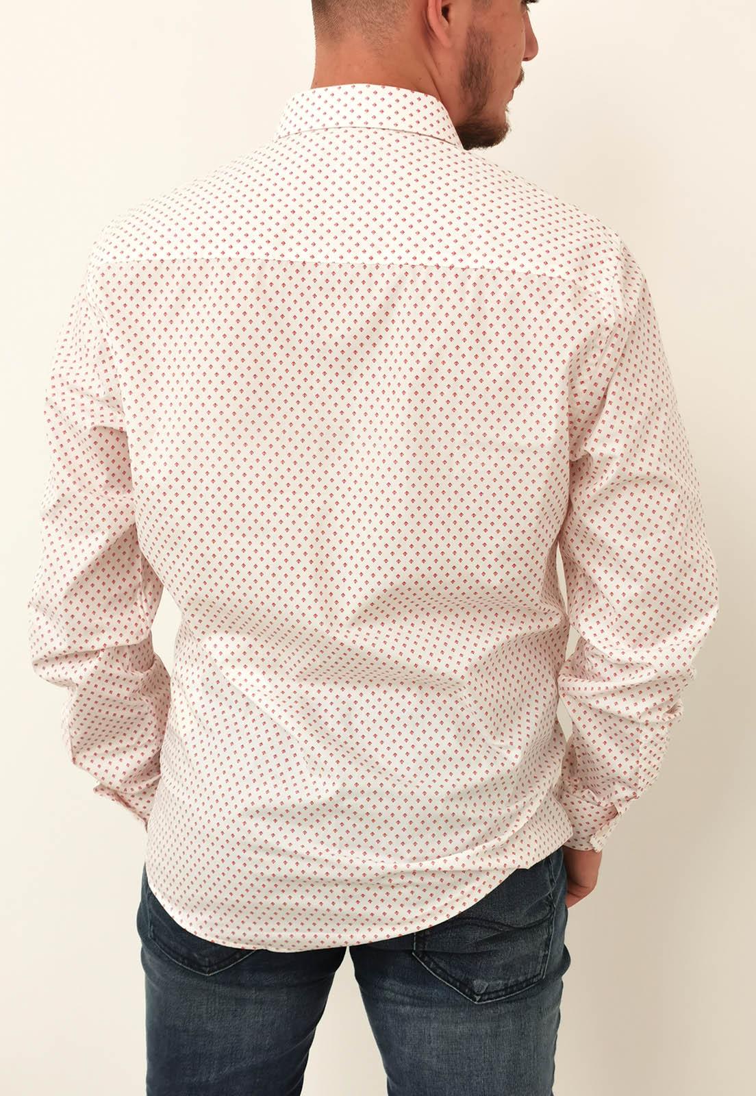 Camisa Slim Colcci Branca Com Detalhes Rosa