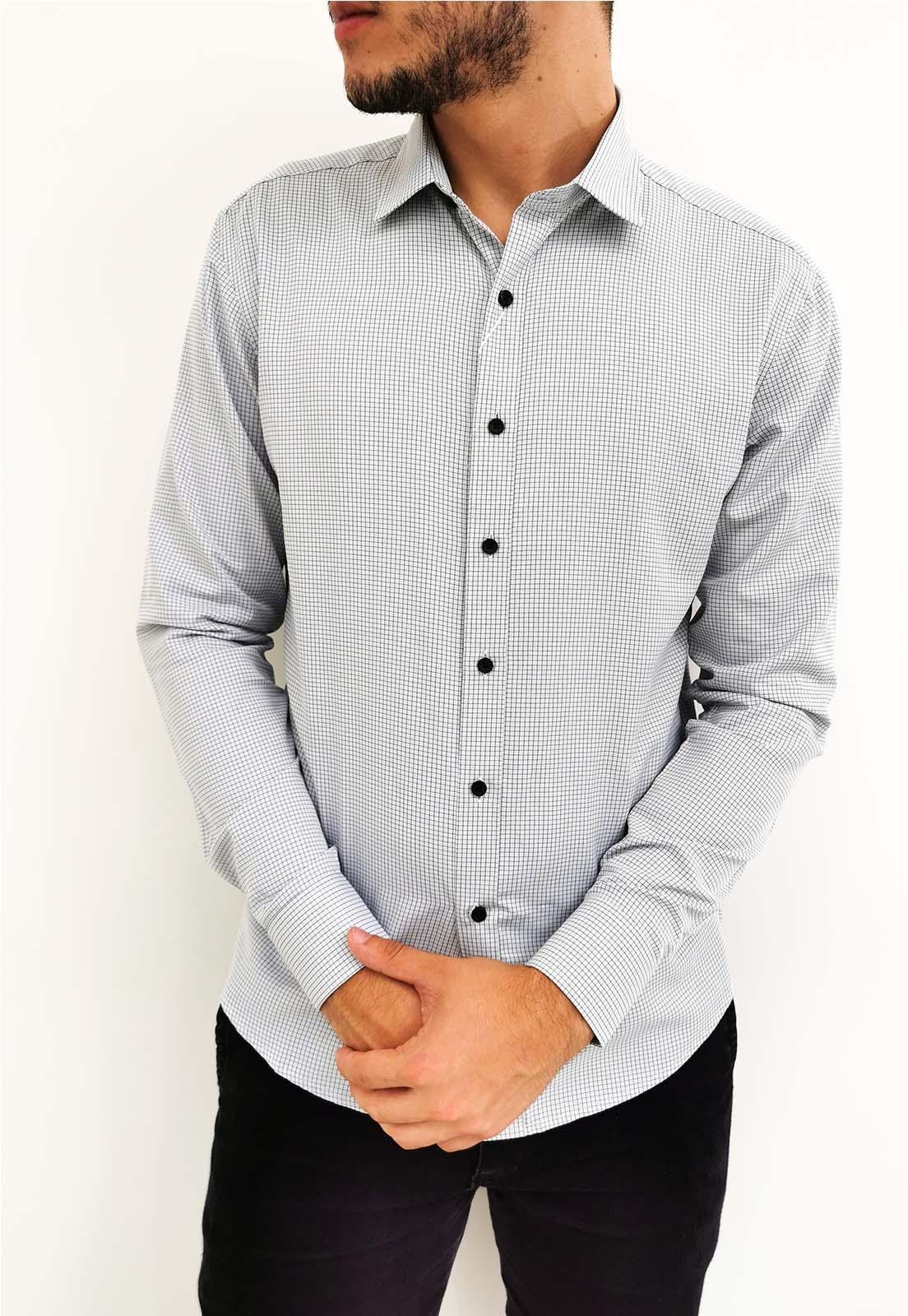 Camisa Vivacci Slim Cinza