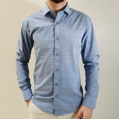 Camisa Vivacci Slim Fit Azul