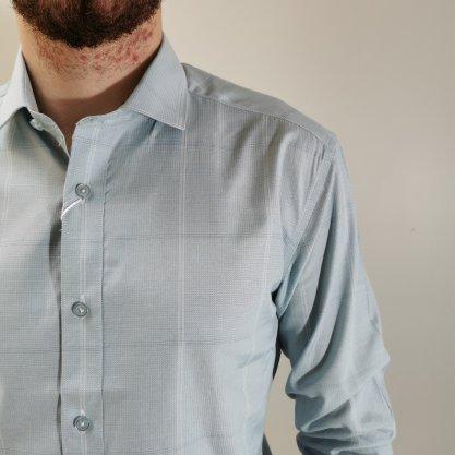 Camisa Vivacci Slim Fit Verde Clara