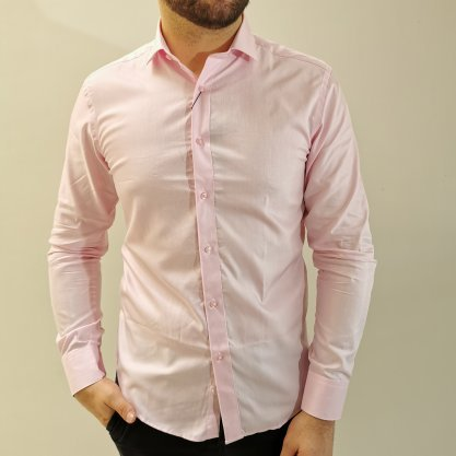 Camisa Vivacci Slim Rosa